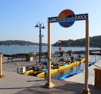 A view of the hydrobikes at the Lake Hopatcong Adventure Company docks.