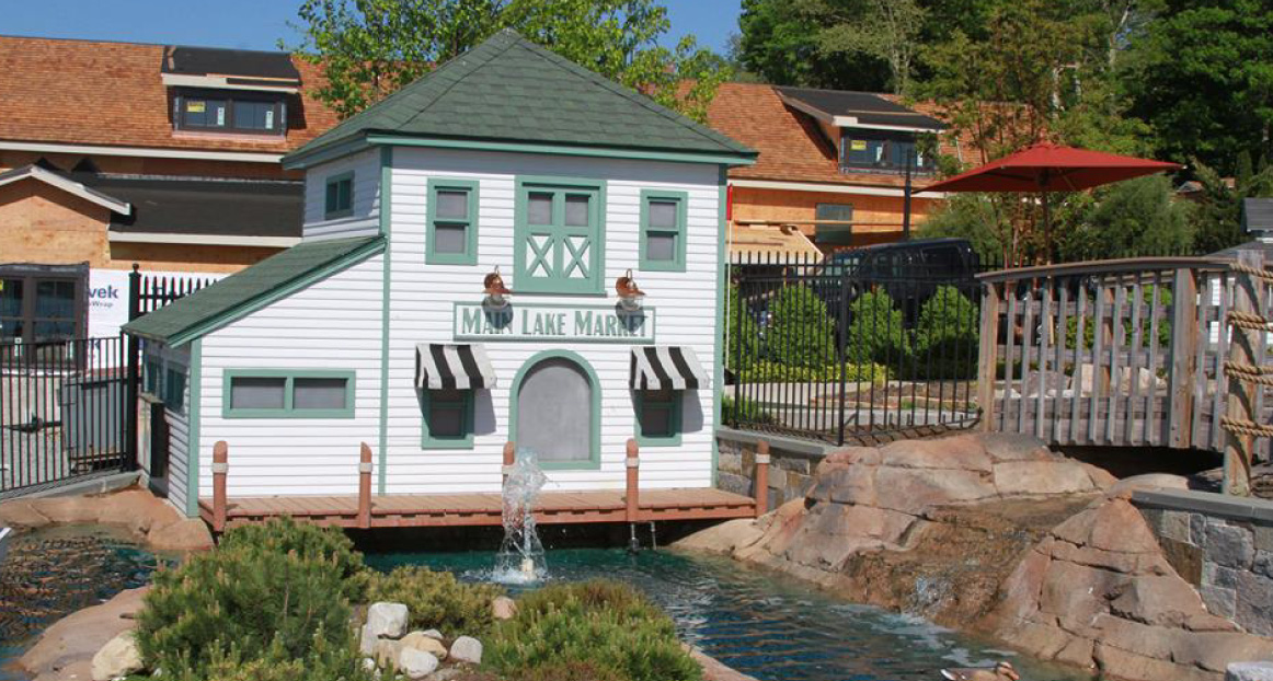 Replica of the Main Lake Market at the Lake Hopatcong Golf Club.