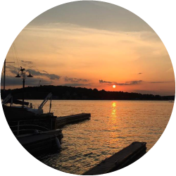 View of a sunset over Lake Hopatcong.